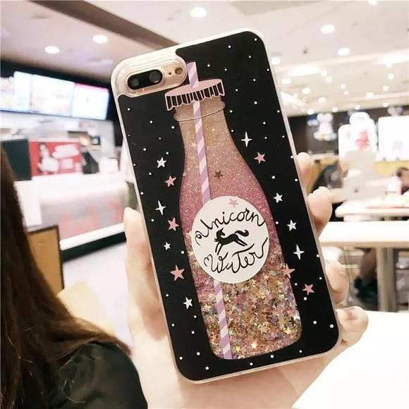 Unicorn Water濾 IPhone 6s Plus Case Glitter girly 8d4a640aa6